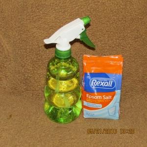 Spray bottle and Epsom salt