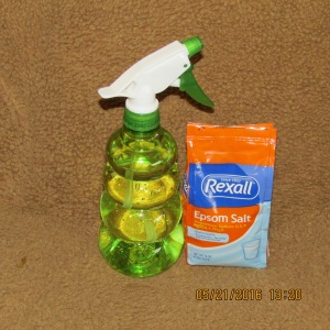 Spray bottle and Epsom salt