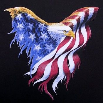 American Eagle with American flag