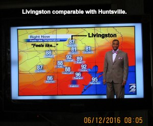 TV weather report