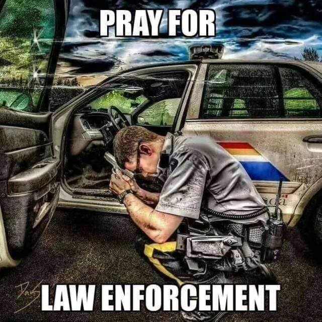 Pray for Law Enforcement (poster)
