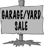 Garage yard sale sign