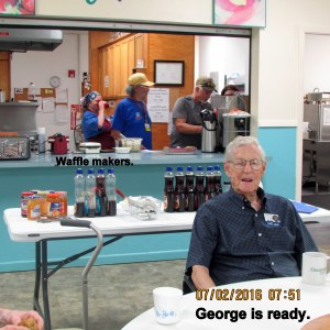 George is ready