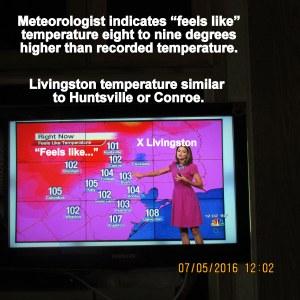 Television temperatures