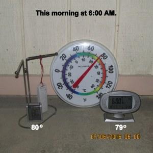 This morning at six AM