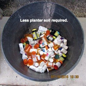 Less soil required