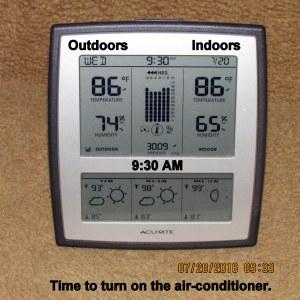 Temperature at nine-thirty