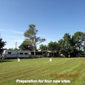 Preparation for sites three and four