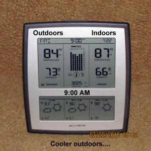 Temperature at nine AM
