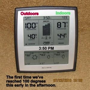 Temperature at three-fifty