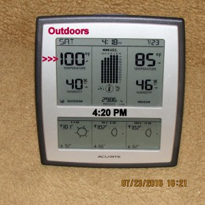 Temperature at four-twenty