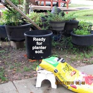 Ready for planter soil