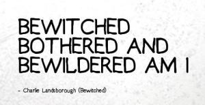 Bewitched bothered bewildered