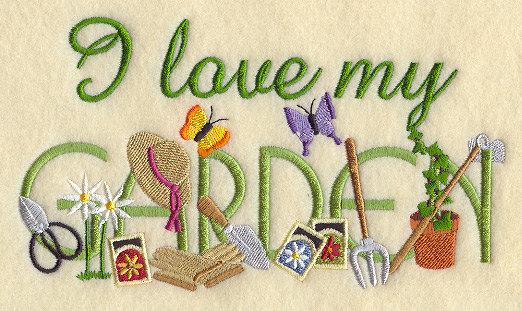 I love my garden (poster)