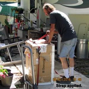 Applying strap