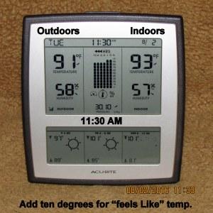 Outdoor indoor at eleven-thirty