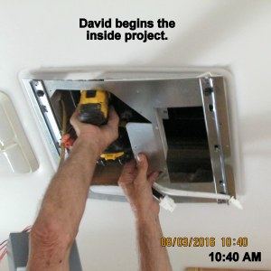 David begins indoor project