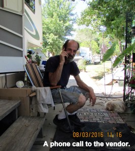 Phone call to vendor