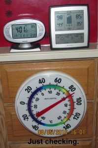 Comparing three thermometers