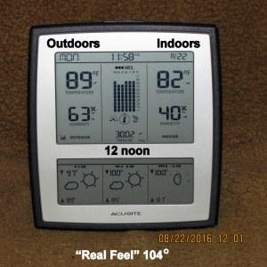 Temperature at noon