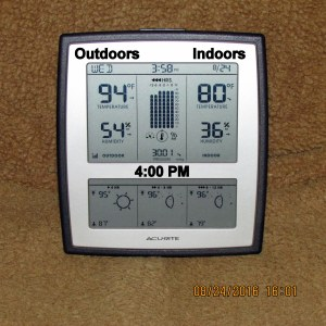 Temperature at four