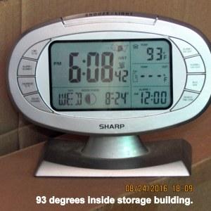 Temperature in storage building