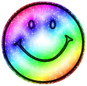 Smiley Face rainbow colors