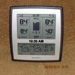Temperature at ten-thirty