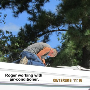 Roger working on A/C