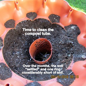 Starting to clean compost tube
