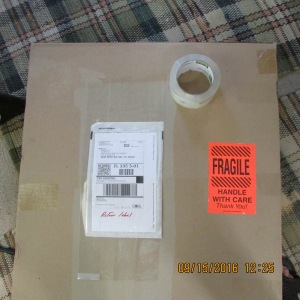 Package taped and label added