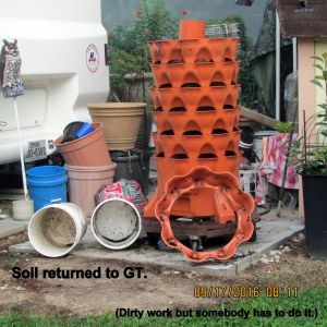 Soil returned to Garden Tower