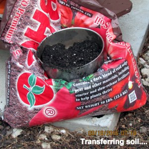 Transferring soil