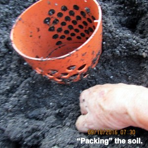 Punching soil