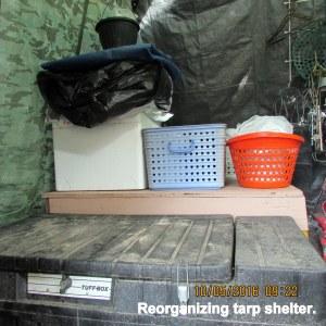 Reorganizing tarp shelter (1)