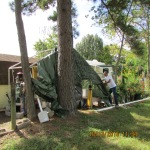 Removing tarp