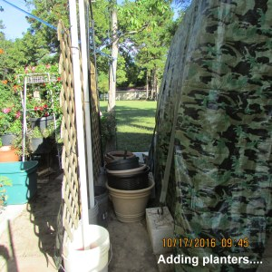Adding planters