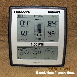 Temperature at one PM