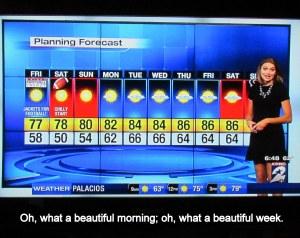 Ten days TV weather report