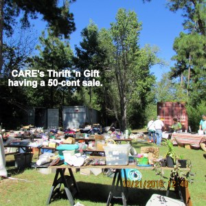 CARE's fifty cent sale