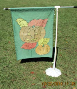 Jack-O-Lantern garden flag