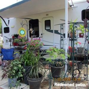 Redeemed patio