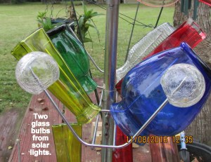 Two glass bulbs from solar lights