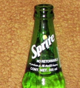 No retornable Sprite bottle