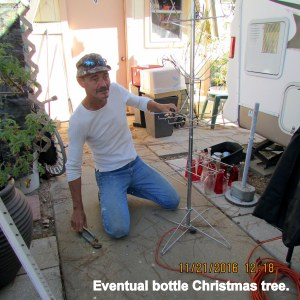 Roger working on bottle tree limbs (2)