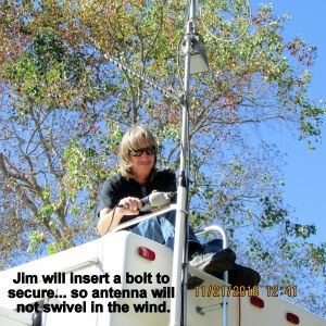 Jim fixing antenna