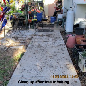 Clean up after limp trimming
