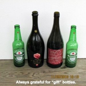 Always grateful for gift bottles