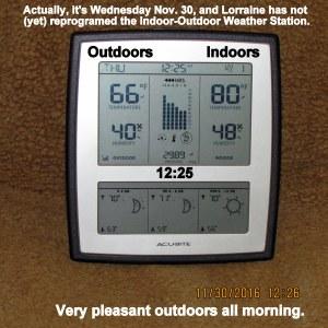 Temperature at twelve-thirty