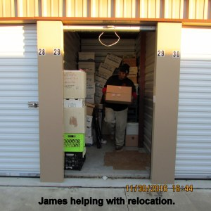 James at the storage unit